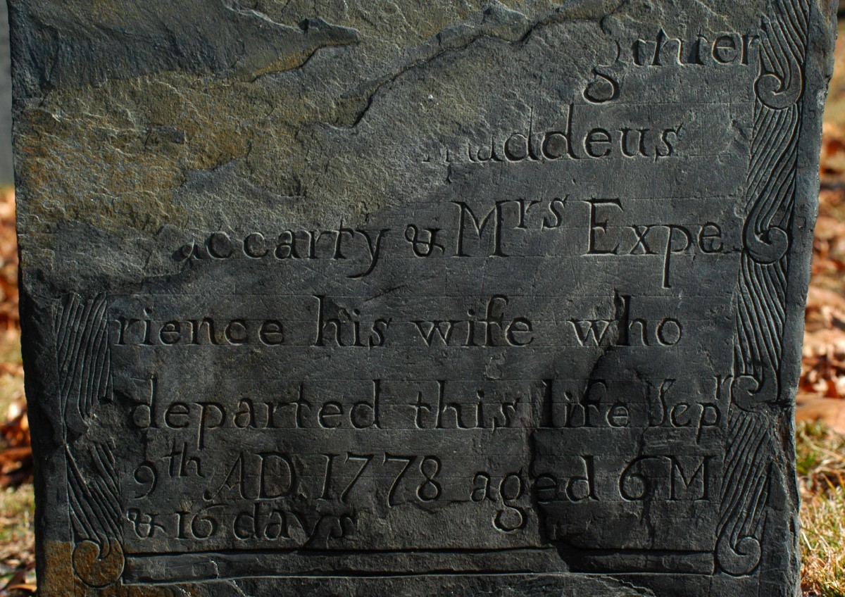 [Gravestone of Elizabeth Maccarty of Fitchburg, carved by William Young of Worcester.]