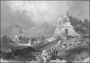 [Image: 19th-century engraving of the ruins of ancient Miletus.]