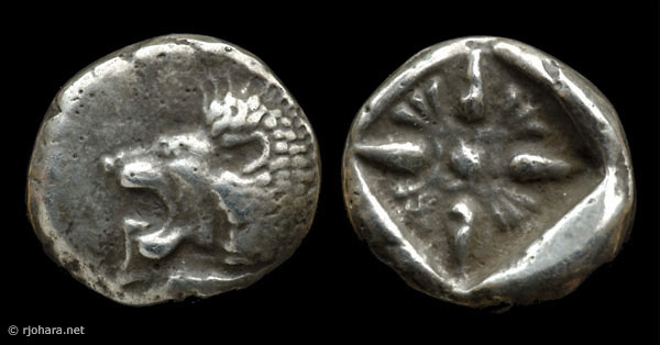 [Image: Specimen RJO 3 from 'Ancient Coins of Miletus']