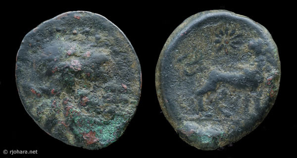 [Image: Specimen RJO 5 from 'Ancient Coins of Miletus']