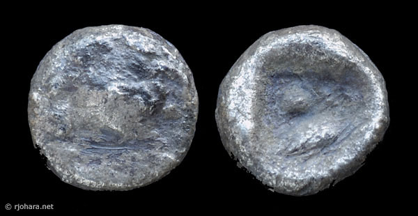 [Image: Specimen RJO 7 from 'Ancient Coins of Miletus']