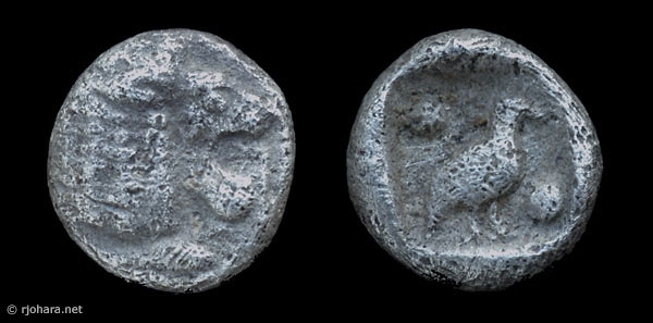 [Image: Specimen RJO 8 from 'Ancient Coins of Miletus']
