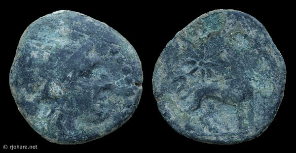 [Image: Specimen RJO 10 from 'Ancient Coins of Miletus']