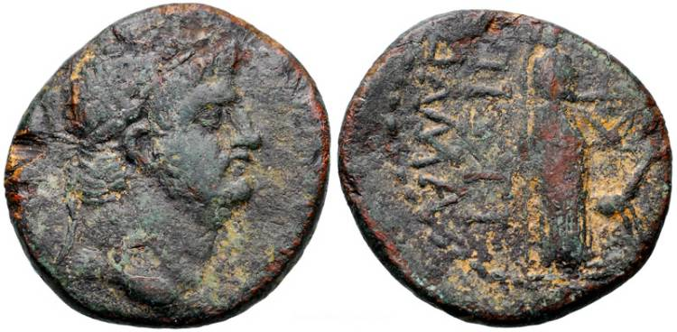 [Image: Specimen RJO 102 from 'Ancient Coins of Miletus']