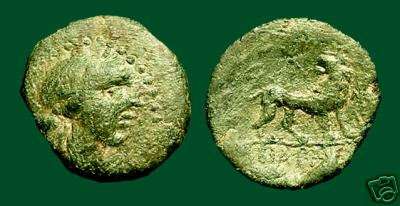 [Image: Specimen RJO 108 from 'Ancient Coins of Miletus']