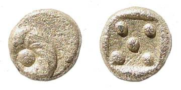 [Image: Specimen RJO 110 from 'Ancient Coins of Miletus']