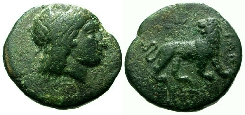 [Image: Specimen RJO 112 from 'Ancient Coins of Miletus']