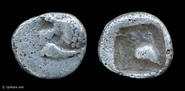 [Image: Specimen RJO 18 from 'Ancient Coins of Miletus']