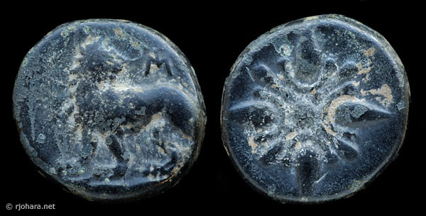 [Image: Specimen RJO 21 from 'Ancient Coins of Miletus']