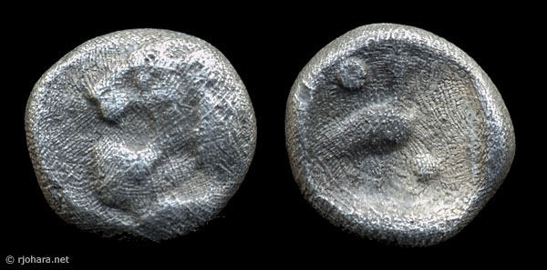 [Image: Specimen RJO 31 from 'Ancient Coins of Miletus']