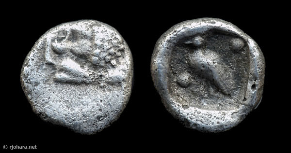 [Image: Specimen RJO 32 from 'Ancient Coins of Miletus']