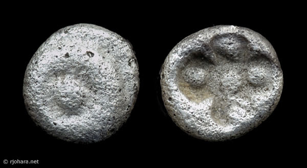 [Image: Specimen RJO 43 from 'Ancient Coins of Miletus']