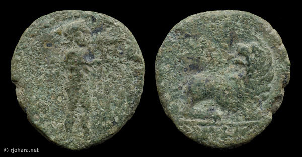 [Image: Specimen RJO 45 from 'Ancient Coins of Miletus']
