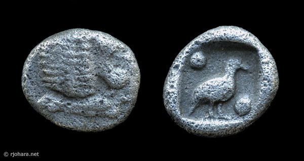 [Image: Specimen RJO 46 from 'Ancient Coins of Miletus']