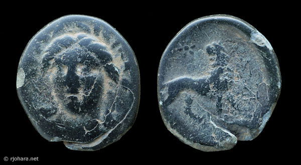 [Image: Specimen RJO 49 from 'Ancient Coins of Miletus']