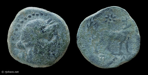 [Image: Specimen RJO 51 from 'Ancient Coins of Miletus']