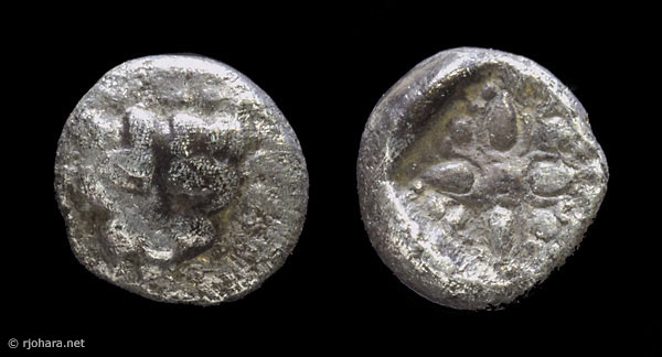 [Image: Specimen RJO 58 from 'Ancient Coins of Miletus']