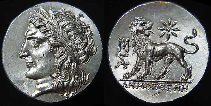 [Image: Specimen RJO 87 from 'Ancient Coins of Miletus']