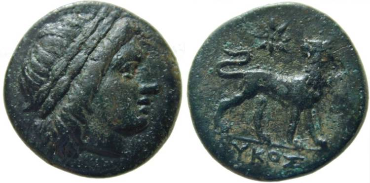 [Image: Specimen RJO 91 from 'Ancient Coins of Miletus']