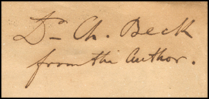 [Image: Presentation copy of Louis Agassiz's review of Charles Darwin's 'Origin of Species']