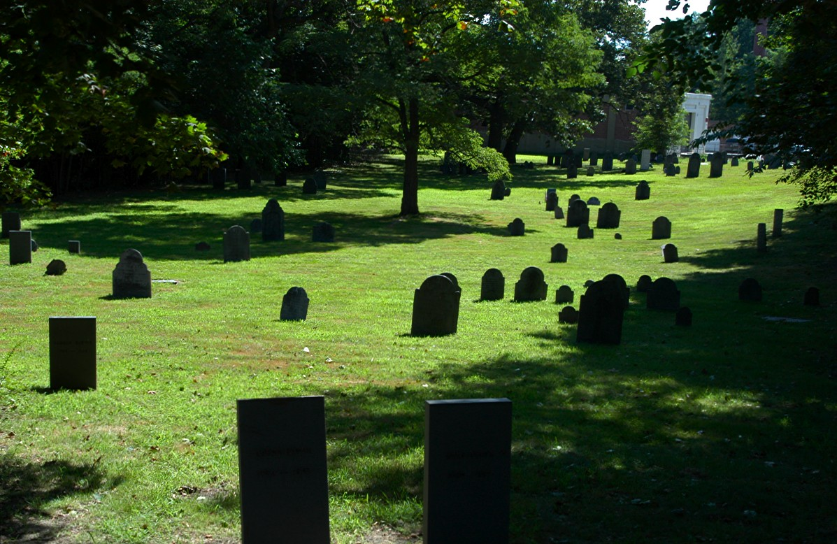 [South Street Cemetery, Fitchburg, Massachusetts, looking east.]