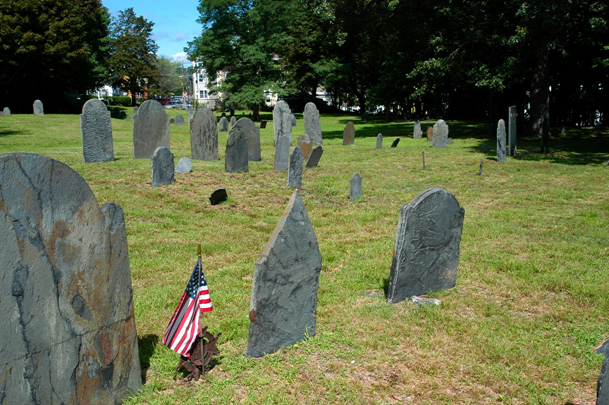 [South Street Cemetery, Fitchburg, Massachusetts, looking west.]
