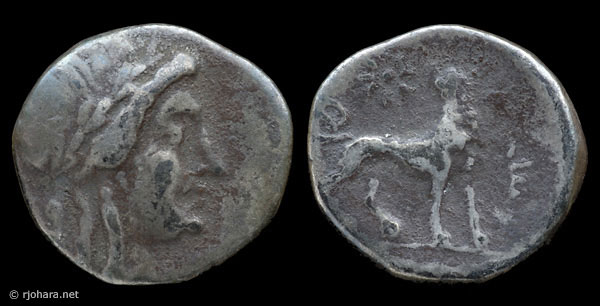 [Image: Specimen RJO 4 from 'Ancient Coins of Miletus']