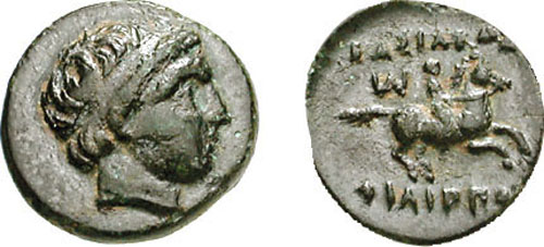 [Image: Specimen RJO 101 from 'Ancient Coins of Miletus']