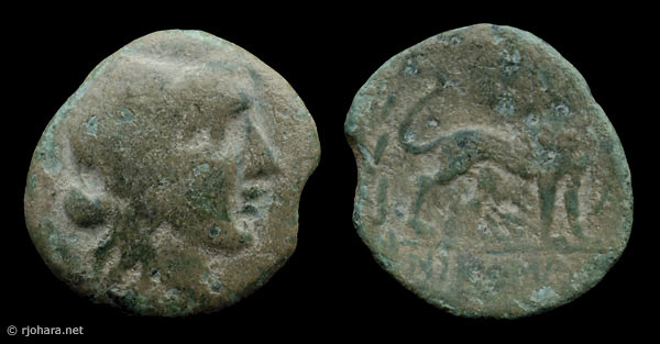 [Image: Specimen RJO 41 from 'Ancient Coins of Miletus']