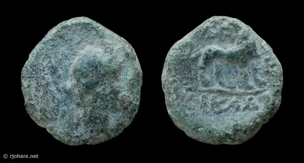 [Image: Specimen RJO 52 from 'Ancient Coins of Miletus']