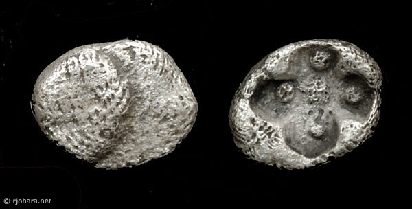 [Image: Specimen RJO 62 from 'Ancient Coins of Miletus']