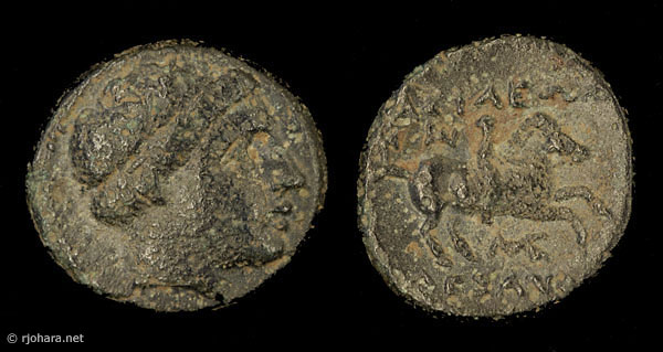 [Image: Specimen RJO 65 from 'Ancient Coins of Miletus']