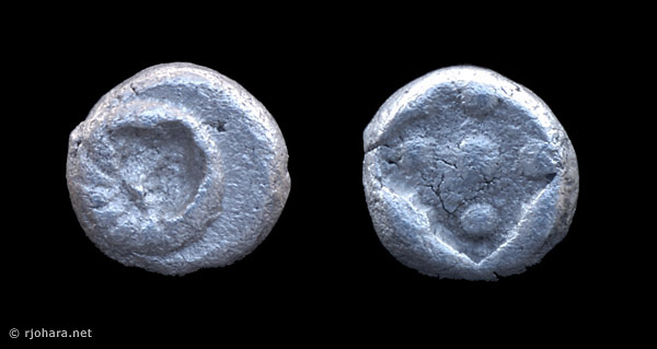 [Image: Specimen RJO 71 from 'Ancient Coins of Miletus']