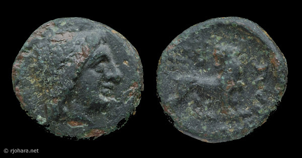 [Image: Bronze Apollo/lion coin of ancient Miletus.]