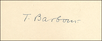 [Image: Autograph signature of herpetologist Thomas Barbour on his 'Naturalist at Large']