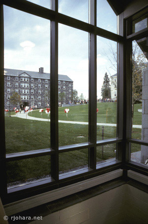 [Ross Commons courtyard, Middlebury College]