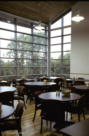 [A section of the Ross Commons dining hall, Middlebury College]
